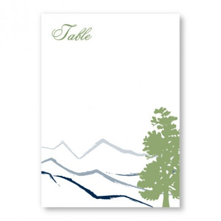 Mountain Table Cards