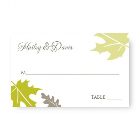 Fall Leaves Seating Cards