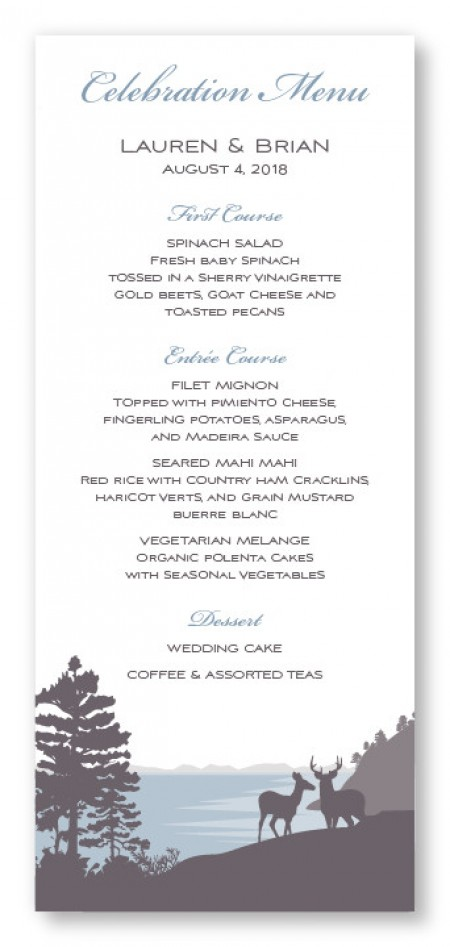 Lakeside Menu Cards