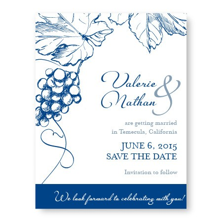 Vineyard Save The Date Cards