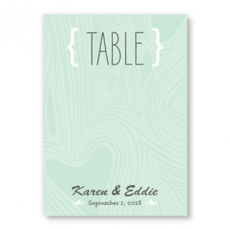 Branch & Woodgrain Table Cards