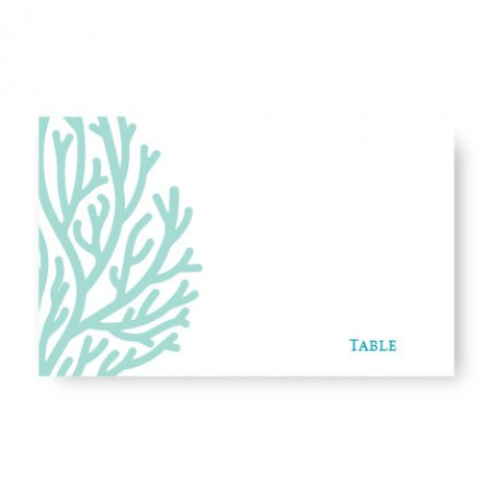 Coral Seating Cards