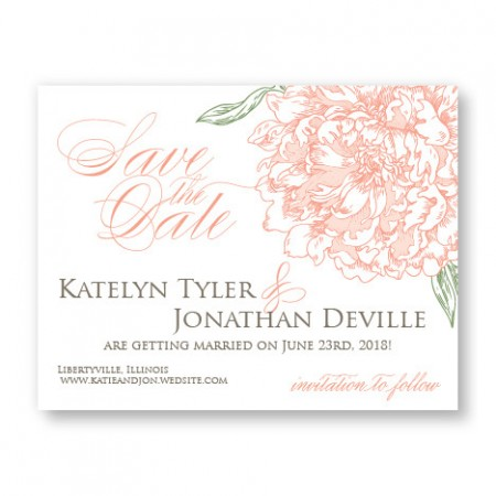 Peony Save the Date Cards