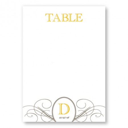 Elegance Table Cards