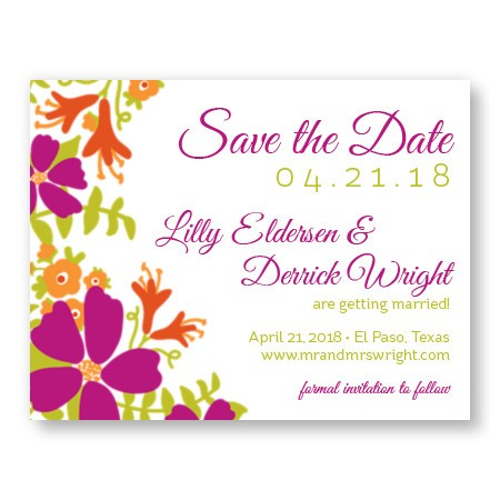 Bloom Save The Date Cards