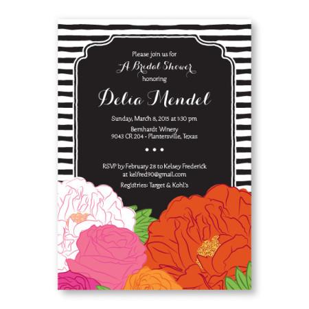 Bouquet Bridal Shower Invitation