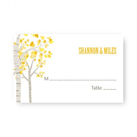 Birch Seating Cards