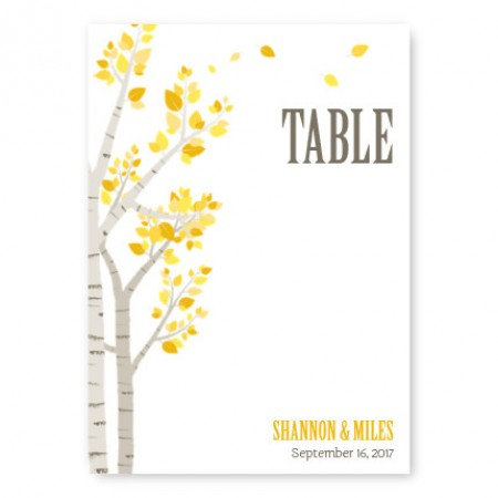 Birch Table Cards