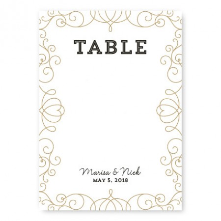 Heart Table Cards