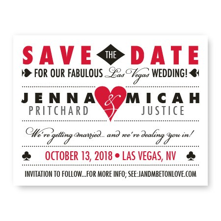Vegas Save The Date Cards