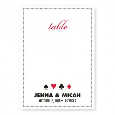 Vegas Table Cards