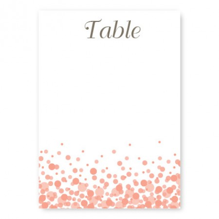 Confetti Table Cards