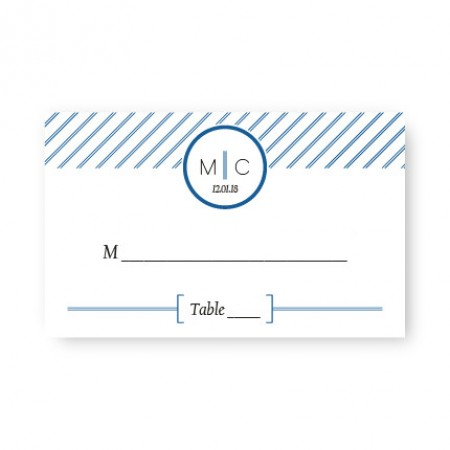 Pinstripe Seating Cards