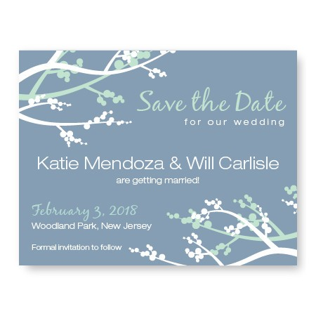 Winter Berry Save The Date Cards