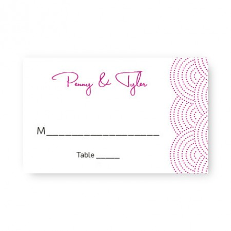 Scallop Seating Cards