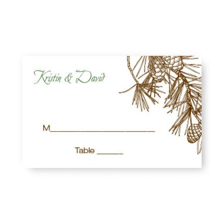 Pine Seating Cards