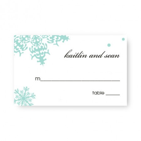 Falling Snow Seating Cards