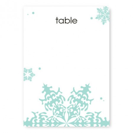 Falling Snow Table Cards