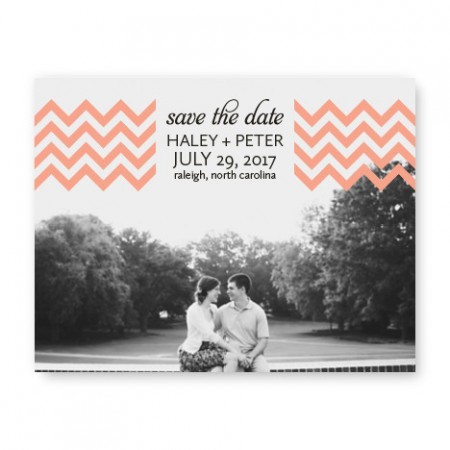 Chevron Photo Save the Date Cards