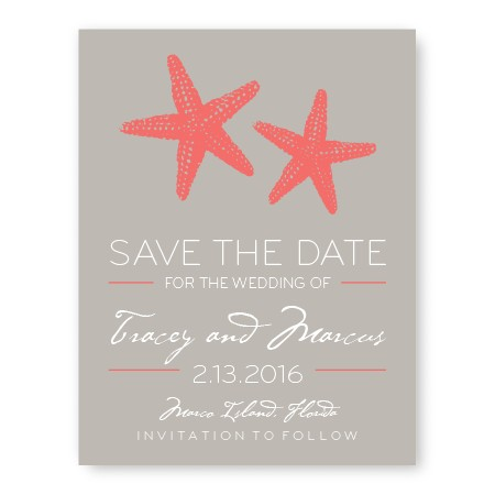 Starfish Save The Date Cards