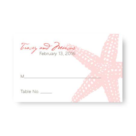 Starfish Seating Cards