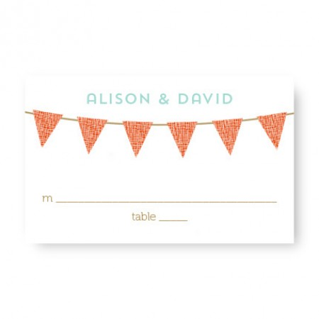 Bunting Seating Cards