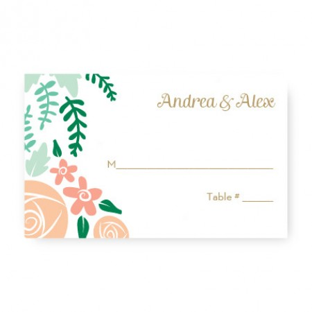 Floral Cluster Seating Cards