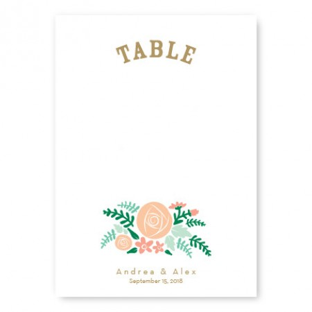 Floral Cluster Table Cards
