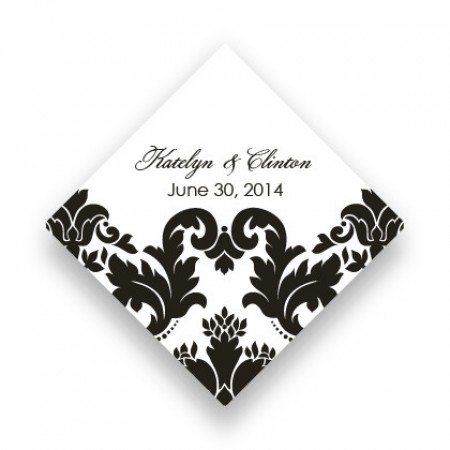 Engagingly Damask Favor Tags