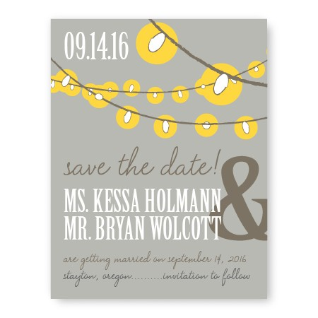 Luster Save The Date Cards