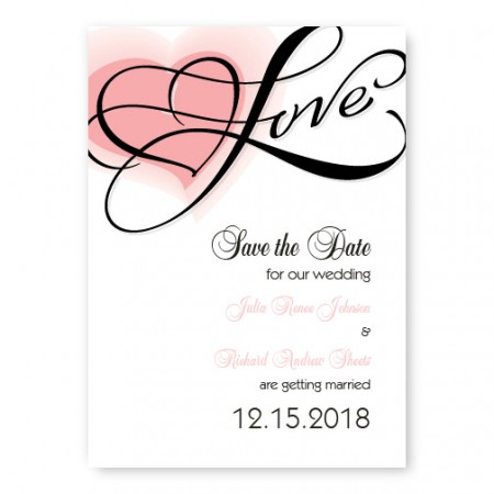 Heartfelt Love Save The Date Cards