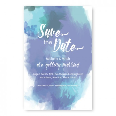 Boho Romance Save The Date Cards