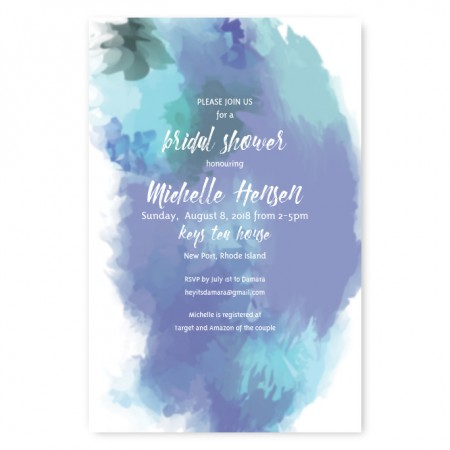 Boho Romance Bridal Shower Invitations
