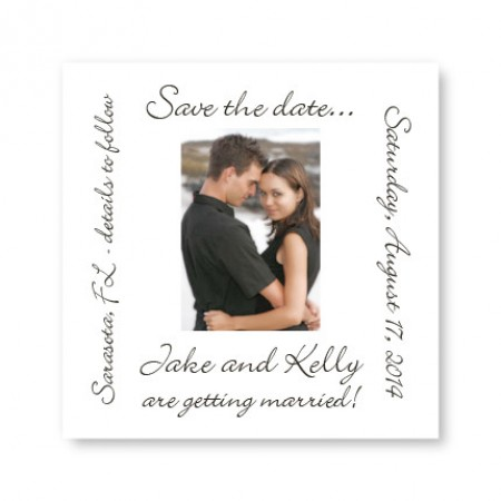 Small Save the Date Photo Magnets SAMPLE