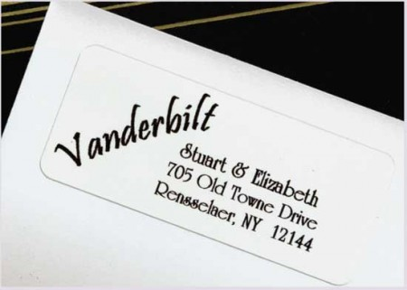 Your Name Is The Design! Address Labels SAMPLE