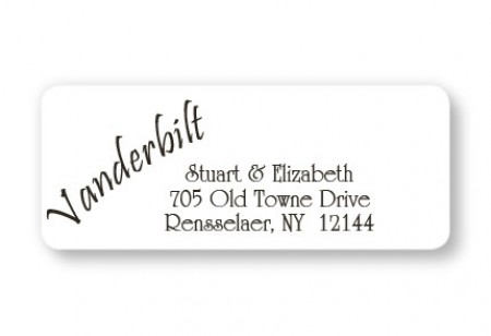 Your Name Is The Design! Address Labels