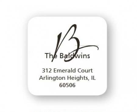Your Initial is The Design! Address Labels