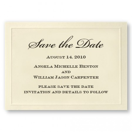 Embossed Border Save the Date