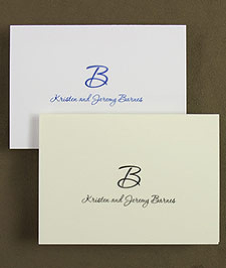 Bold Initial Informal Cards
