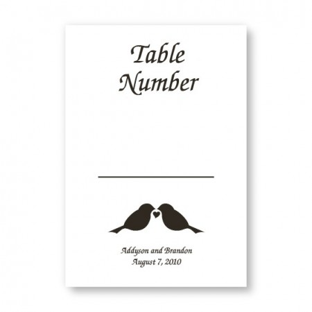 Table Cards - 25 Cards for $30.95