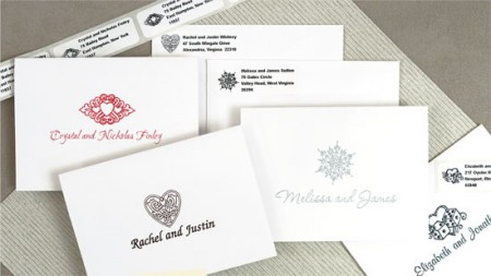 Thank You Notes & Matching Address Labels SAMPLE