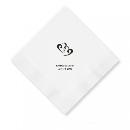 Design Your Own Foil Printed Luncheon Napkins SAMPLE