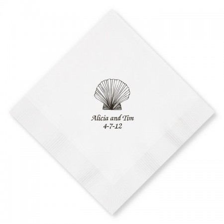 WHITE Designer Luncheon Napkins
