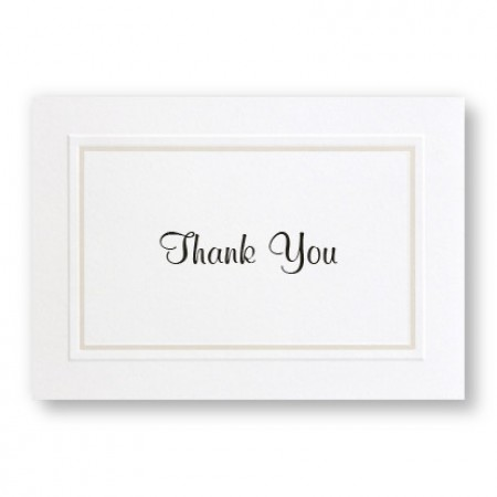 Classic Organza Thank You Cards