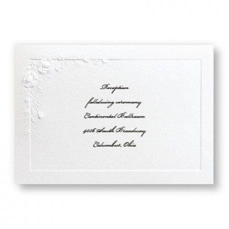 Small Embossed Roses Reception Cards - LIMITED STOCK ON HAND