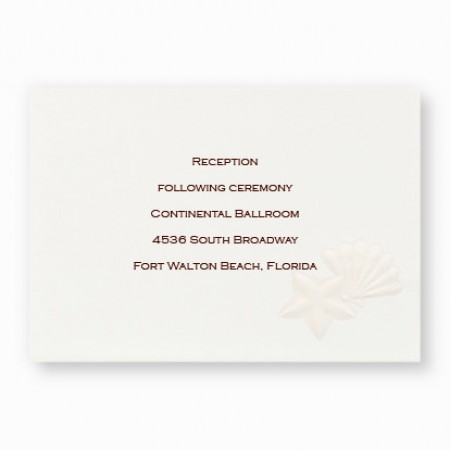 Ocean Treasures Reception Cards - LIMITED STOCK ON HAND