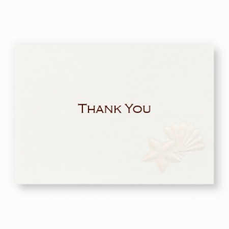 Ocean Treasures Thank You Cards - LIMITED STOCK ON HAND
