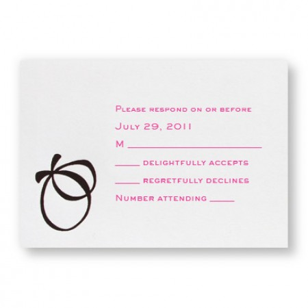 With this Ring Respond Cards - LIMITED STOCK ON HAND