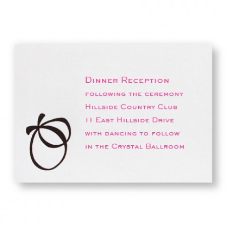 With this Ring Reception Cards - LIMITED STOCK ON HAND