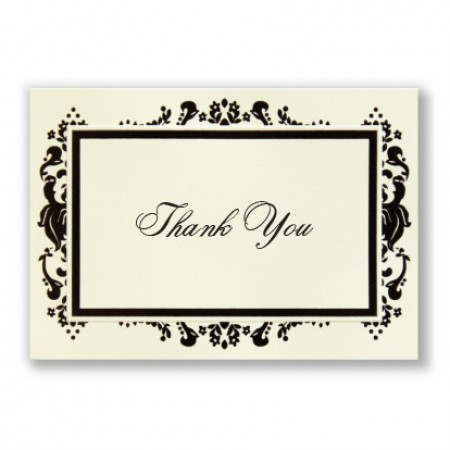 Subtle Damask Thank You Cards - LIMITED STOCK ON HAND